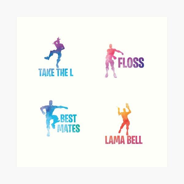 Best Mates / Floss / Take the L / Lama Bell Art Print