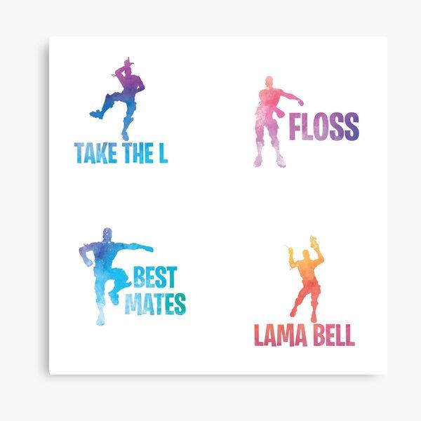 Best Mates / Floss / Take the L / Lama Bell Metal Print