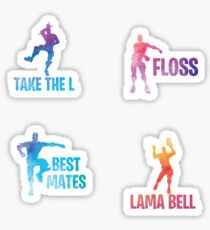 Best Mates / Floss / Take the L / Lama Bell Sticker