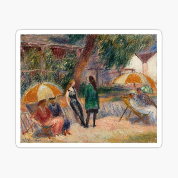 William James Glackens. Beach with Figures, Bellport, c. 1915. Sticker