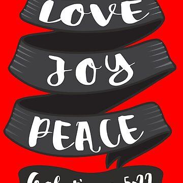 Love Joy Peace by plushism