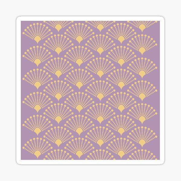 Weinlese-Art- DecoMusterpastellpunktpunkt Sticker
