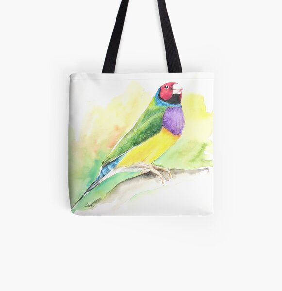 Goudamadine (gouldian finch) All Over Print Tote Bag
