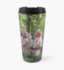Two Spinone in a bluebell wood Travel Mug
