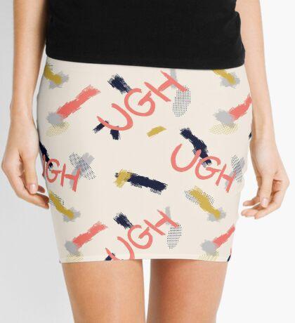 UGH Pattern #redbubble #pattern Mini Skirt