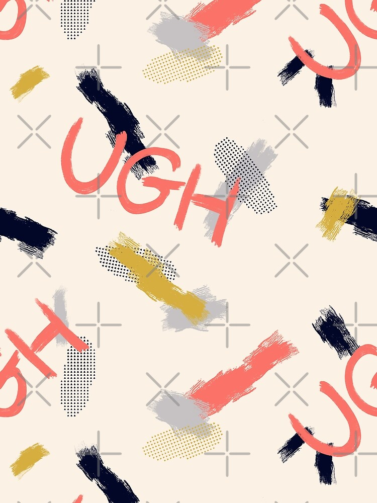UGH Pattern #redbubble #pattern by designdn