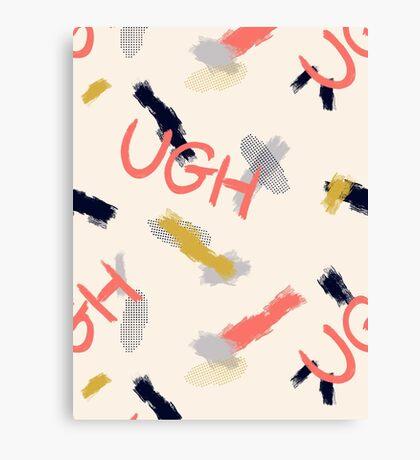 UGH Pattern #redbubble #pattern Canvas Print