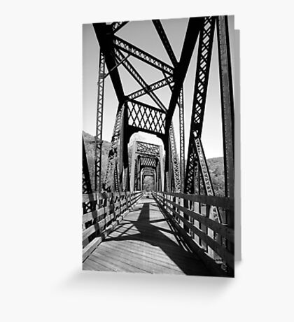 B&W Bridge Greeting Card