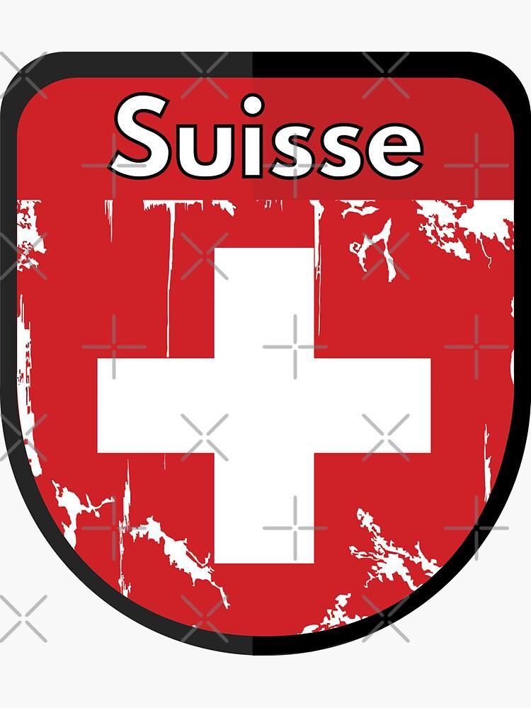 SWITZERLAND Schweiz SWISS Suisse Shield Sticker Style 3 by OuterShellUK