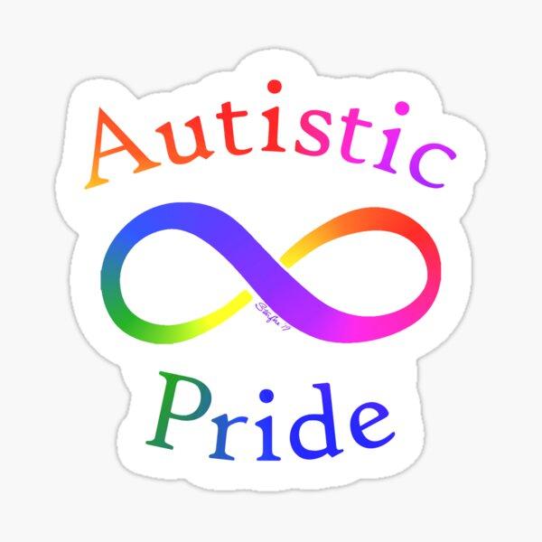 Autistic Pride Rainbow Infinity Sticker