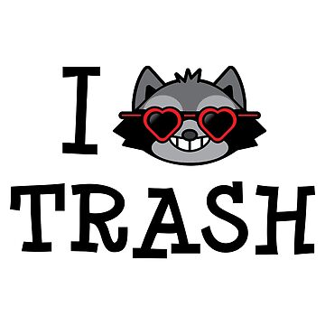 I Love Trash Racoon by laurxy