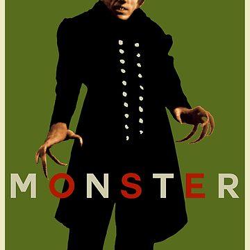 Monstruo (Max Schreck - Nosferatu) Verde de SUCHDESIGN