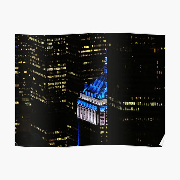 NYC in BLUE Poster