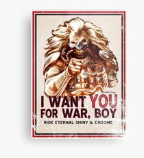I Want YOU for WAR, BOY (dark colors) Metal Print