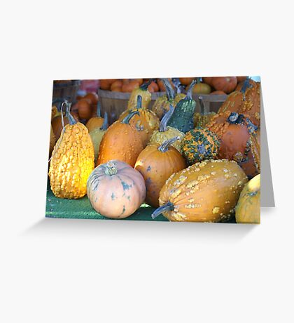 Mutated Pumpkins Greeting Card