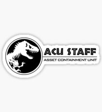 Jurassic World - Asset Containment Unit Sticker