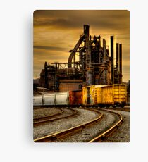 WARM MORNING COLD STEEL  Canvas Print