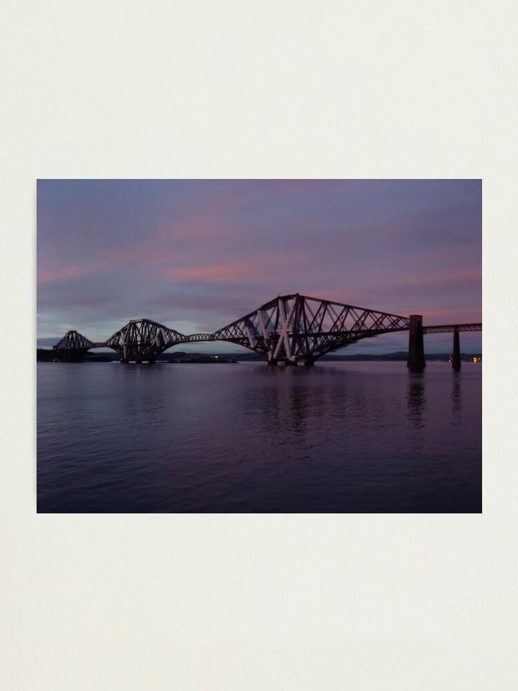 Alternate view of The Bridge at Dusk Photographic Print