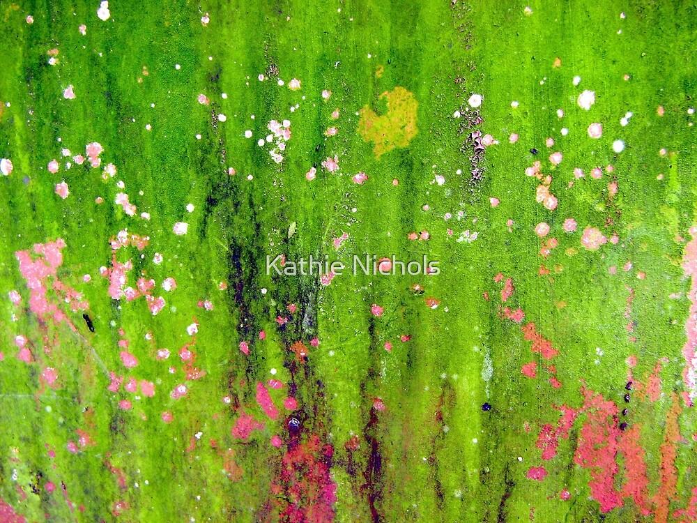 Pink Flowers in Meadow by Kathie Nichols