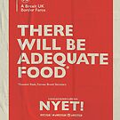 Adequate Food Notebook by NYET! - a Brexit UK Border Farce