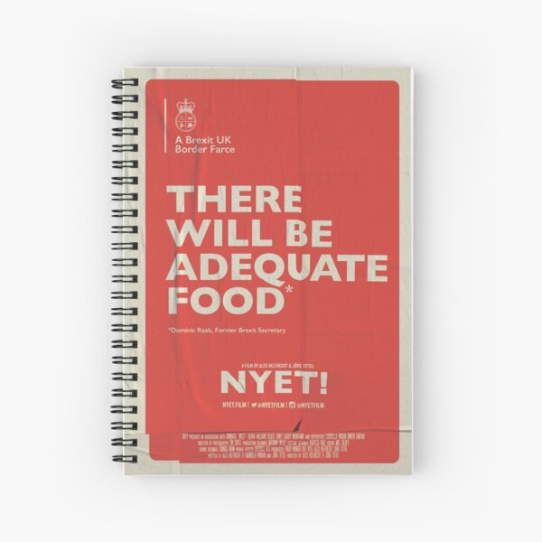 Adequate Food Notebook Spiral Notebook