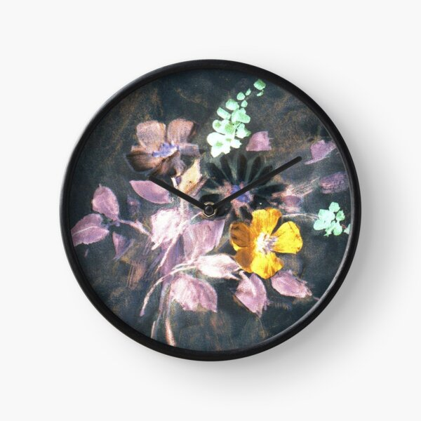 Floral #52 Clock