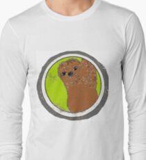 Happy sloth cartoon kawaii Long Sleeve T-Shirt