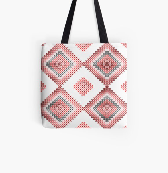 traditional embroidery All Over Print Tote Bag
