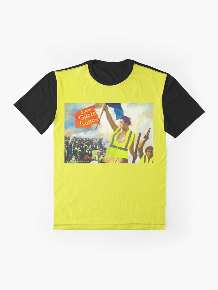 Alternate view of Les Gilets Jaunes - The Yellow Vests Graphic T-Shirt