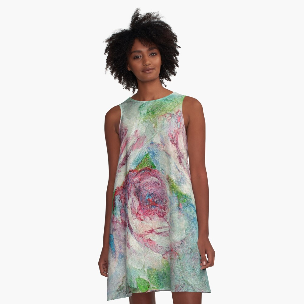 Memories of Roses A-Line Dress