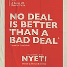 No Deal Notebook by NYET! - a Brexit UK Border Farce