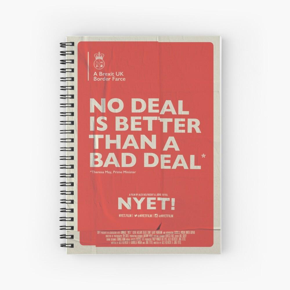 No Deal Notebook Spiral Notebook