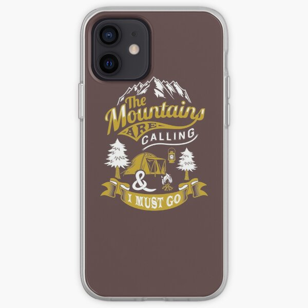 The Mountains Are Calling and I Must Go Shirt Mens and Women iPhone Soft Case