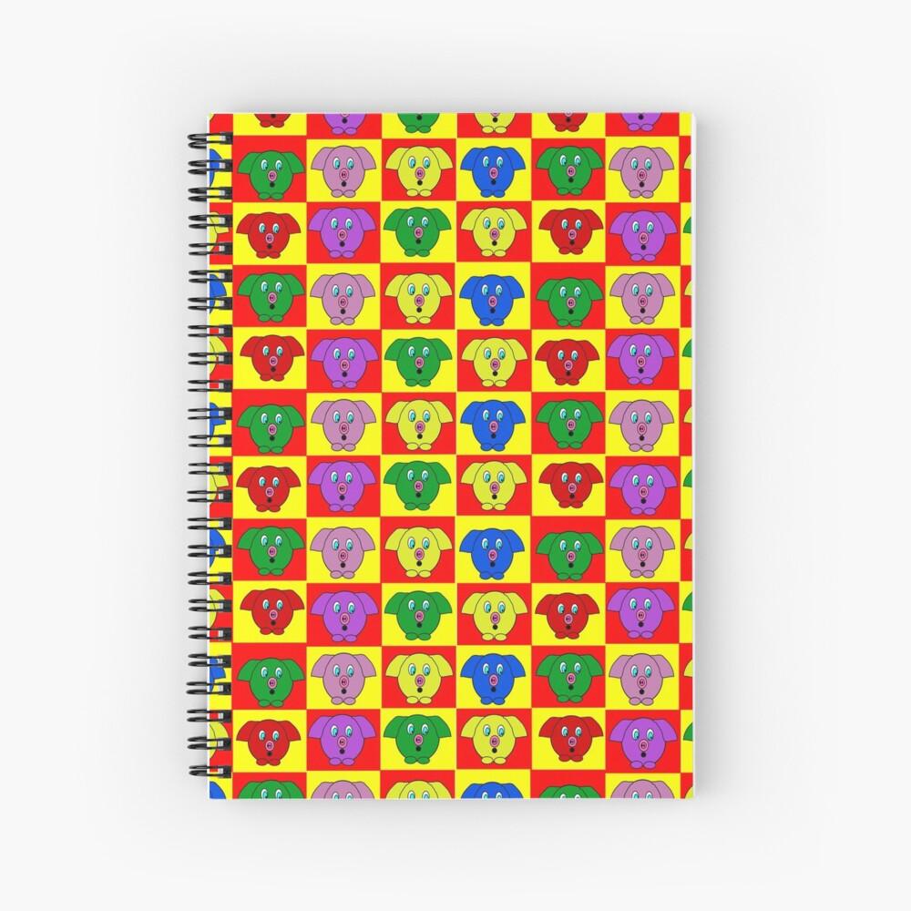 Mister Piggy in Tiles Spiral Notebook