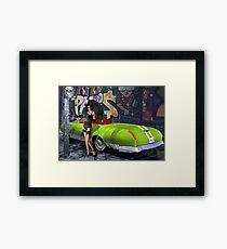 Melbourne Grafitti & Kanaa Mucle Car - modeled Framed Print