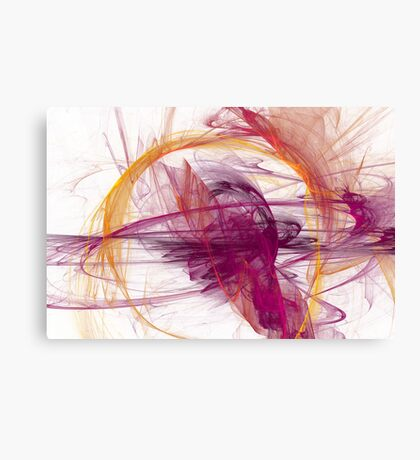 Abstract in Purple, Pink and Yellow Canvas Print