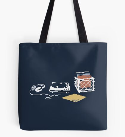 Vinyl Lover Pixel Art Tote Bag