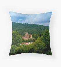 Mittelburg Neckarsteinach Throw Pillow