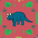 Triceratops Dinosaur pattern by Edwin Burrow
