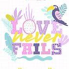 Die Liebe versagt nie 2019 (tropisches Design) von JW ARTS & CRAFTS