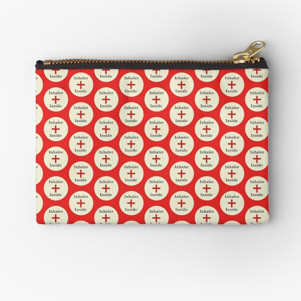 Inhaler Inside,Asthma Zipper Pouch