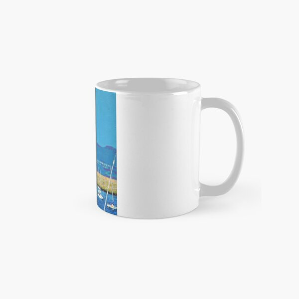 Dún Laoghaire Harbour and Howth Head Classic Mug