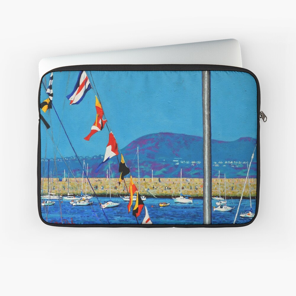 Dún Laoghaire Harbour and Howth Head Laptop Sleeve