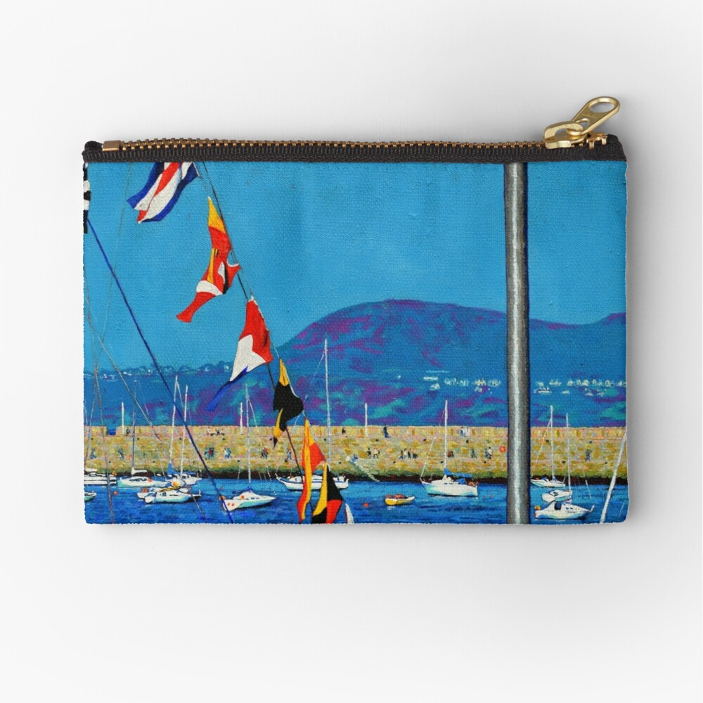 Dún Laoghaire Harbour and Howth Head Zipper Pouch