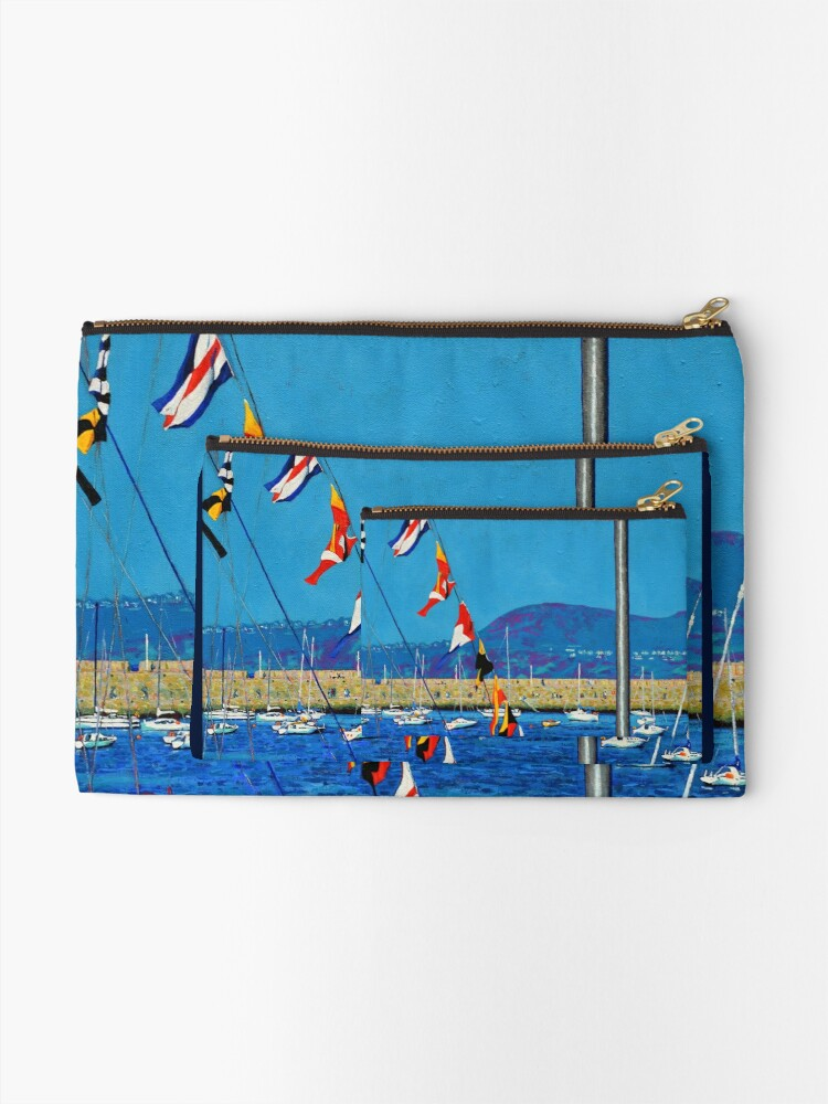 Alternate view of Dún Laoghaire Harbour and Howth Head Zipper Pouch