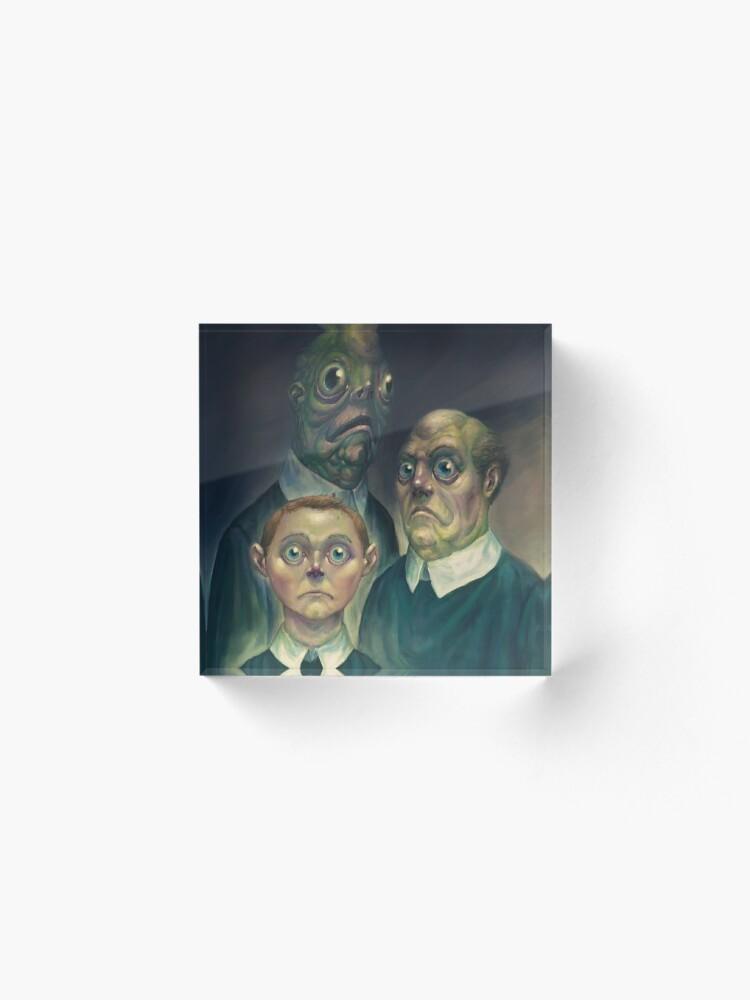 Alternate view of Lovecraft - Innsmouth Family Portrait Acrylic Block