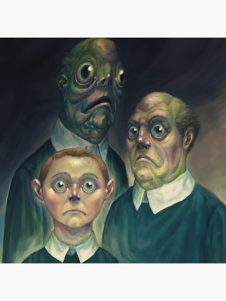 Lovecraft - Innsmouth Family Portrait by Damsa