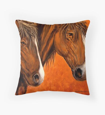 Fresh Water For My Horses Throw Pillow