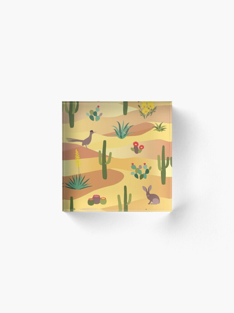 Alternate view of Desert Life Acrylic Block