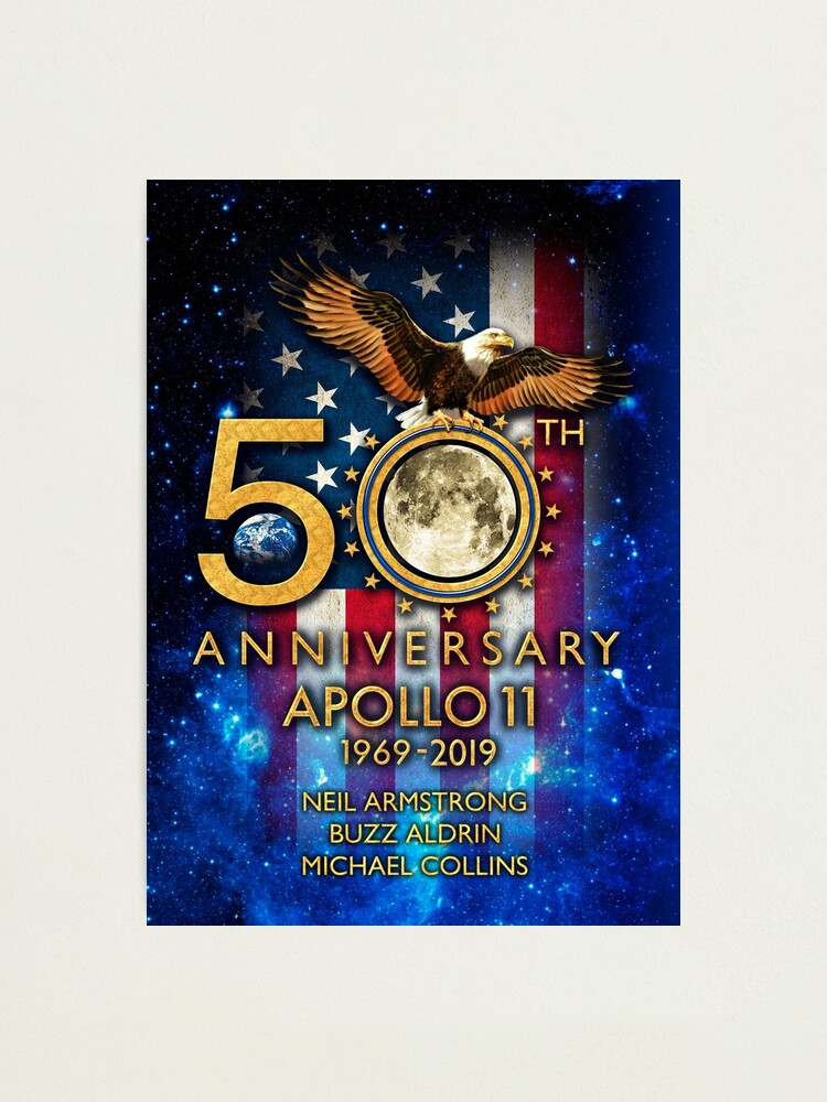 Alternate view of 50th Anniversary Apollo 11 moon landing 1969-2019 Photographic Print